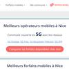 Couverture mobile 5G des communes françaises
