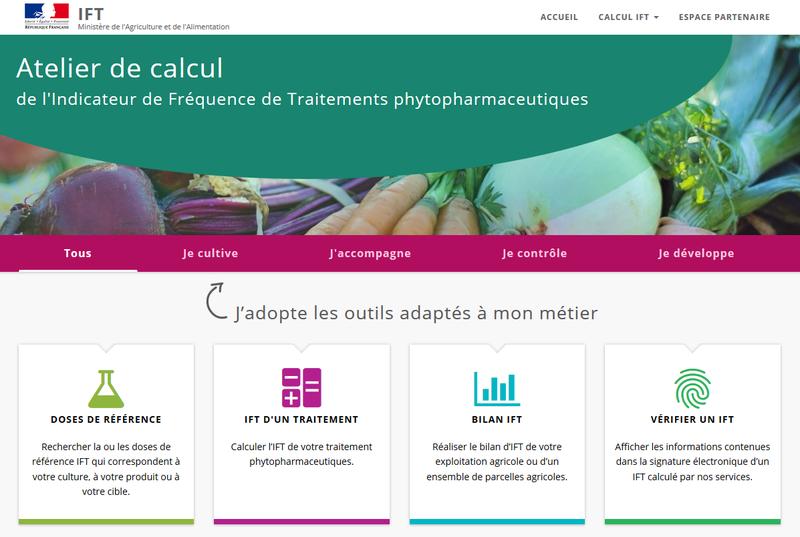Atelier de calcul de l'Indicateur de Fréquence de Traitements phytopharmaceutiques