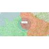 Carte de la zone de sortie de 100 km à  vol d'oiseau autour du domicile pour le déconfinement