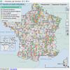 Carte des structures de la justice en 2013