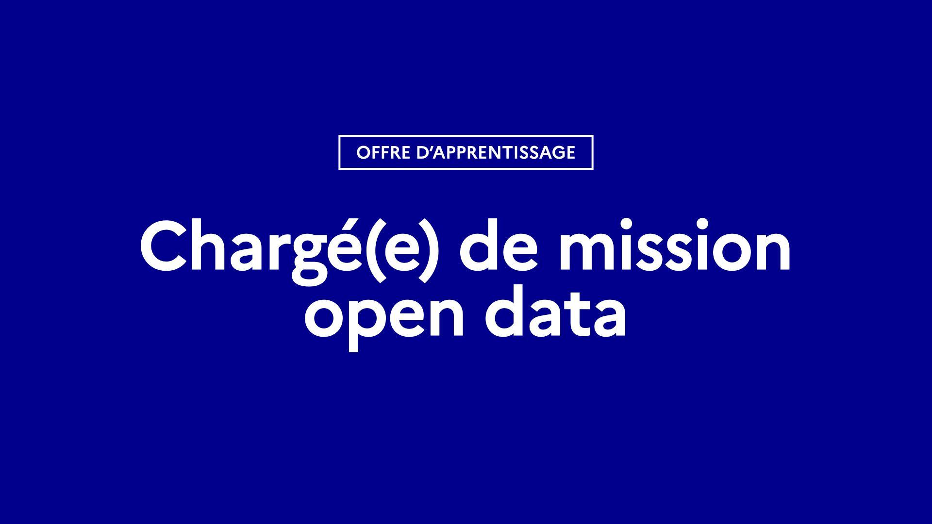 Offre d'apprentissage « Chargé(e) de mission open data » 2021-2022