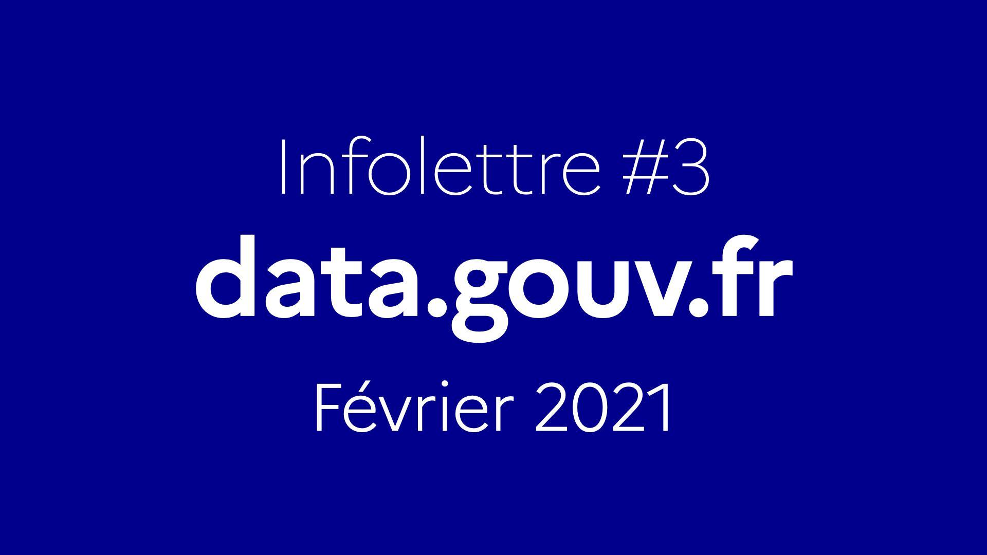 Infolettre data.gouv.fr #3