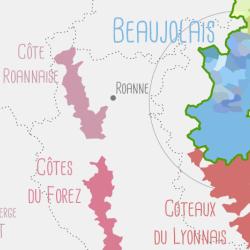 Carte des AOC viticoles Françaises