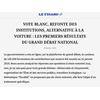 Premiers résultats (article publié sur lefigaro.fr)