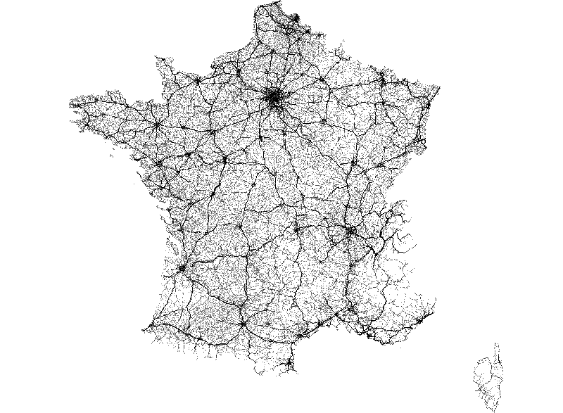 Road network of France