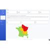 Cartographie épidémique en France métropolitaine