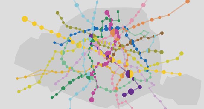Visualisation du trafic annuel entrant par station