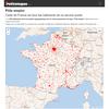 Cartes des France des organismes de Service Public