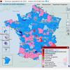 Cartographie nationale des résultats des élections législatives de 2002
