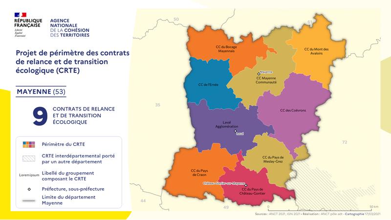 Cartographie des contrats de relance et de transition écologique