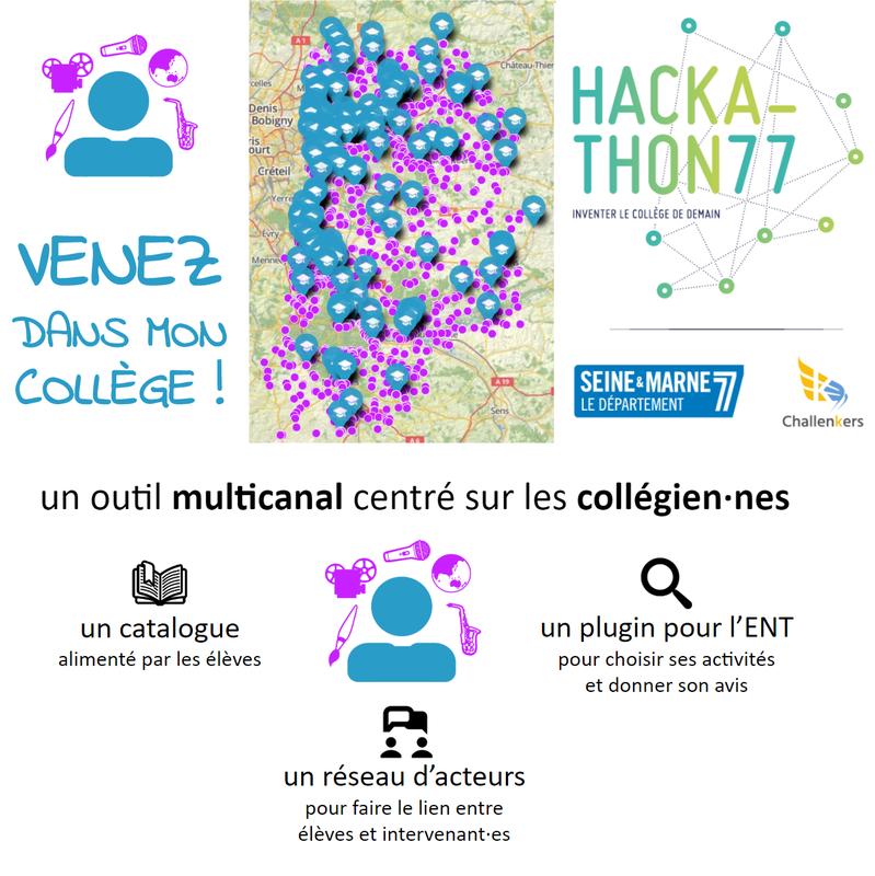 Carte des collèges et associations susceptibles de proposer des activités éducatives aux collèges de la Seine-et-Marne