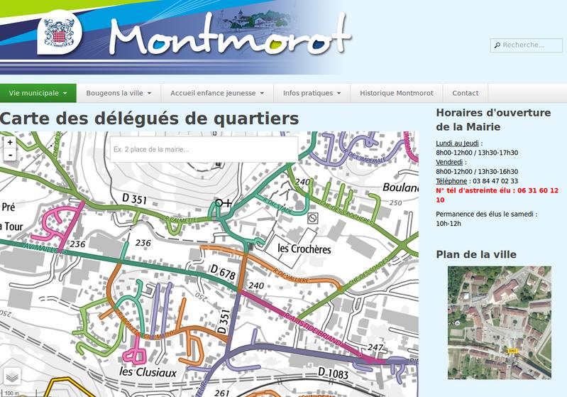 Carte des délégués de quartiers de Montmorot