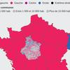 Carte des couleurs politiques par commune aux élections régionales 2010