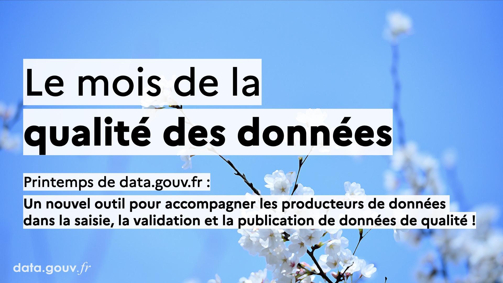 Nos travaux sur la qualité des données: présentation d'un nouvel outil pour accompagner la production de données ouvertes de qualité