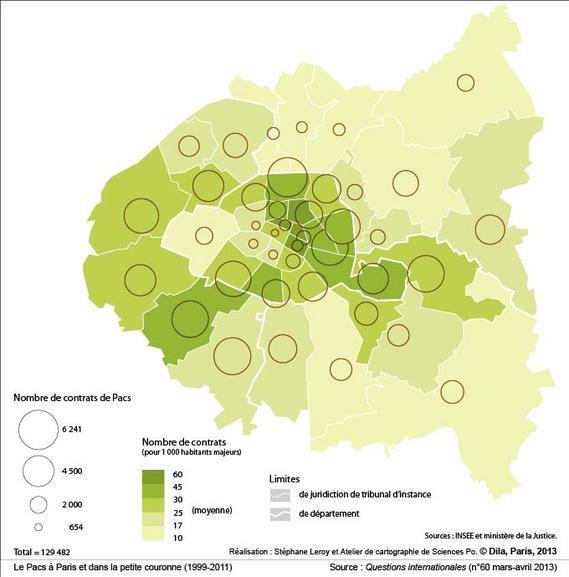 Le Pacs à Paris et dans la petite couronne (1999-2011)