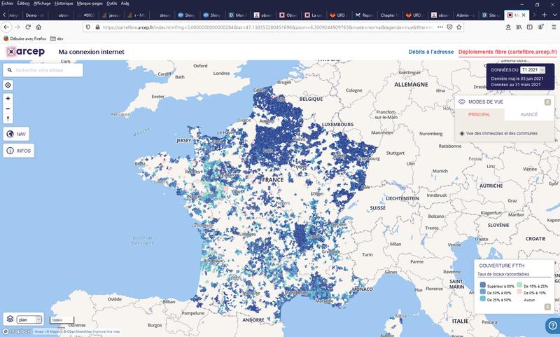 Site cartographique - CarteFibre