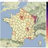 [Open Source] Script Python pour visualiser l'évolution des données COVID-19 par département (courbes) + l'évolution sur la France jour après jour (carte)