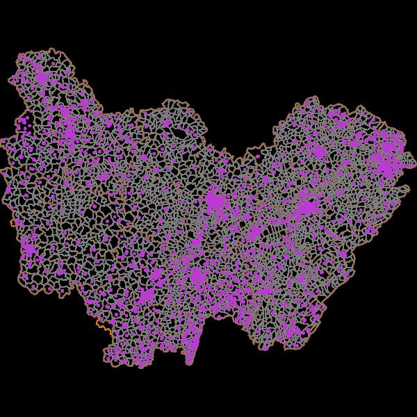 Localisation des batiments comportant des logements sociaux en Bourgogne-Franche-Comté