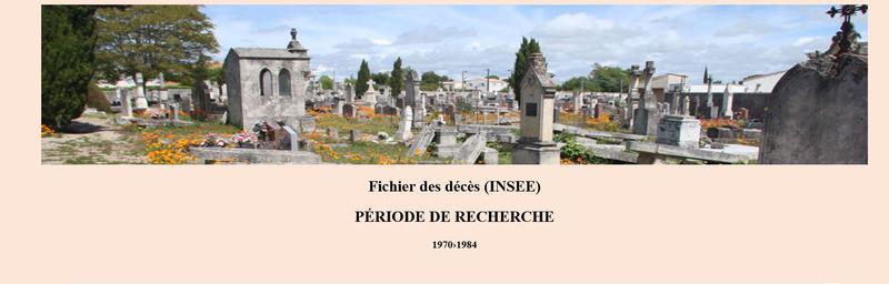 Fichier des décès (INSEE)