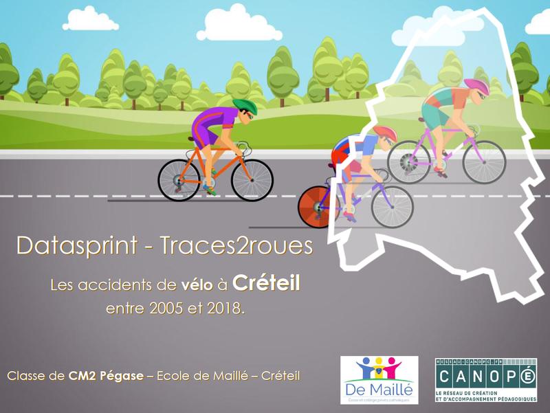 Les accidents de vélo à Créteil entre 2005 et 2018