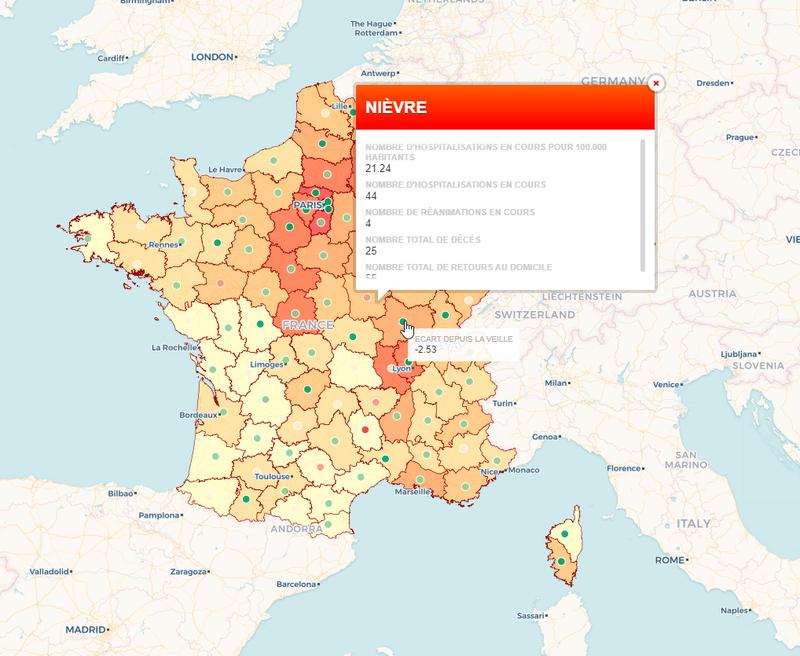 Hospitalisations COVID-19 en France
