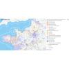 Municipales 2014 – Carte des territoires conquis selon les nuances politiques