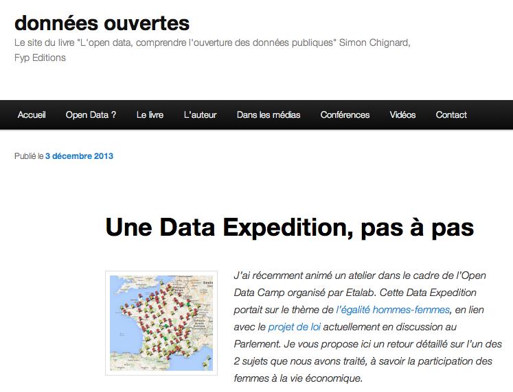 Retour sur la Data Expedition, pas à pas