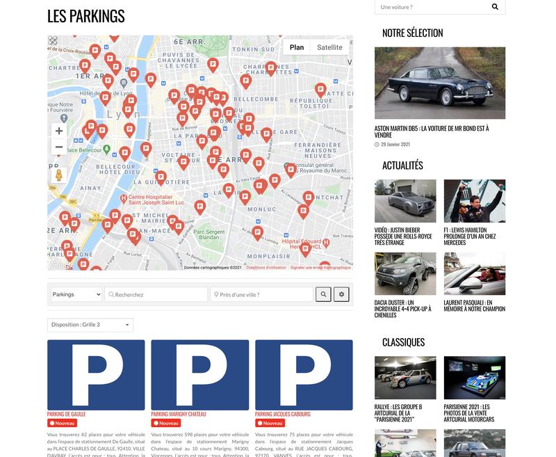 Carte des parkings