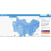 Carte facilitant le téléchargement des données cadastrales ouvertes en BFC