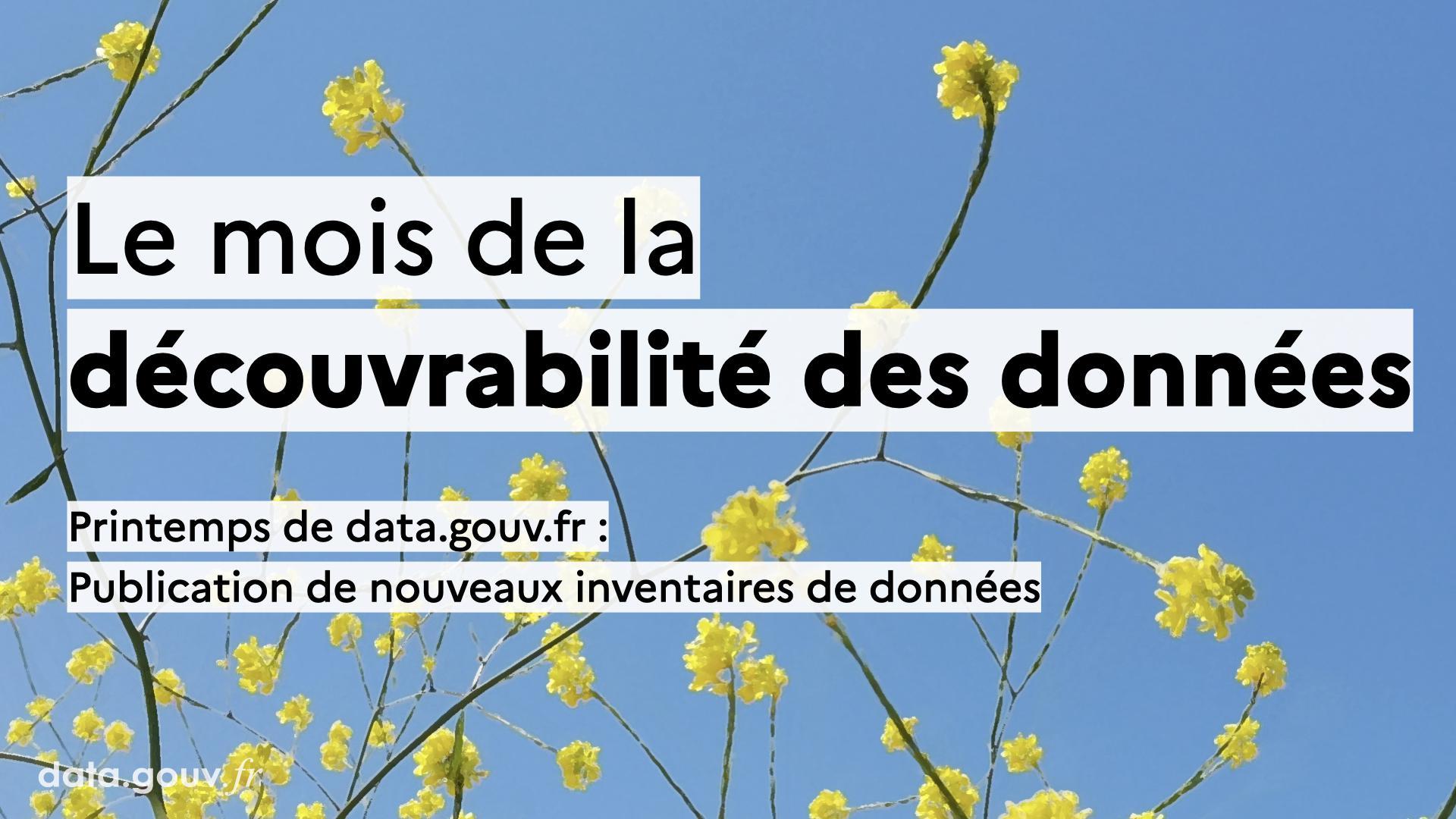 Découvrabilité des données : publication de nouveaux inventaires de données