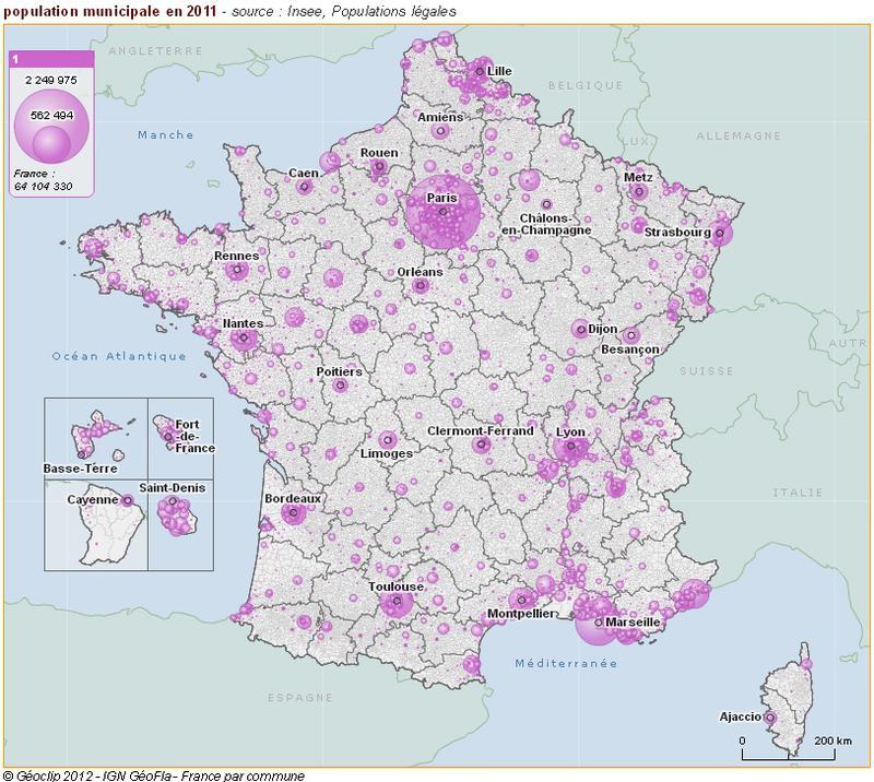 Cartographie de la population légale 2011