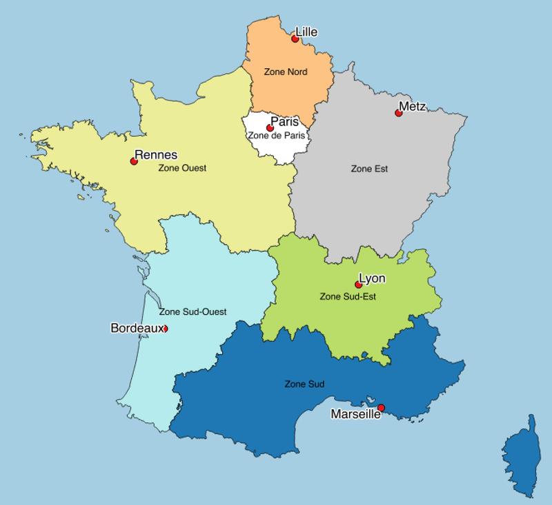 Localisation des SGAMI